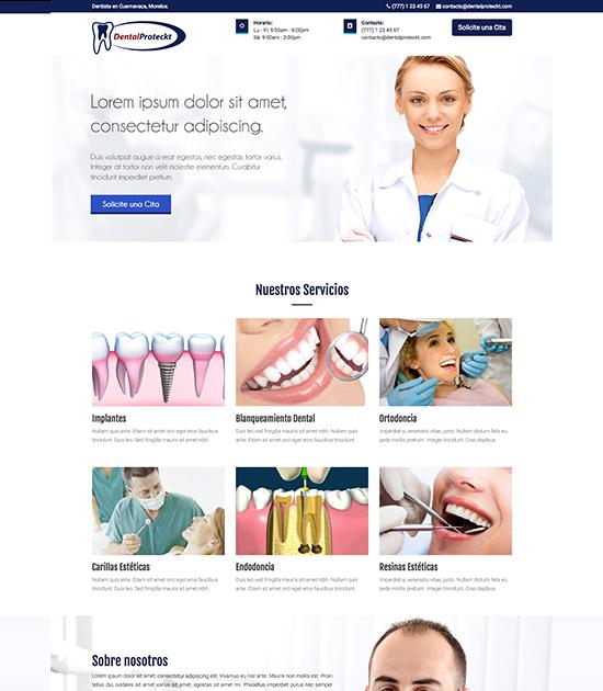 Páginas Web Económicas para Dentistas