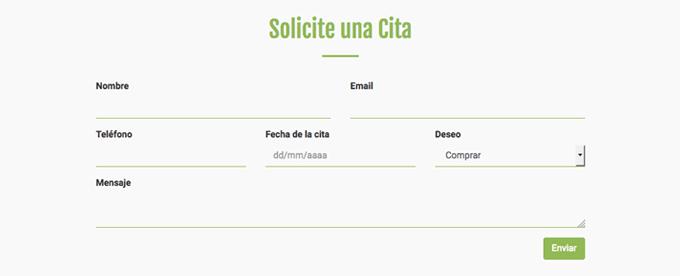 paginas web economicas formulario